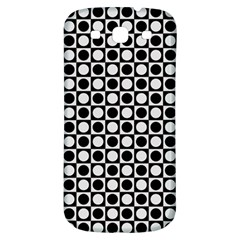 Modern Dots In Squares Mosaic Black White Samsung Galaxy S3 S Iii Classic Hardshell Back Case by EDDArt