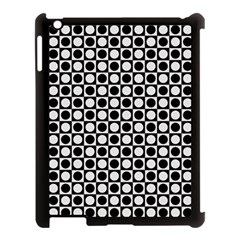 Modern Dots In Squares Mosaic Black White Apple Ipad 3/4 Case (black) by EDDArt
