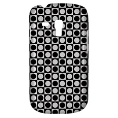 Modern Dots In Squares Mosaic Black White Samsung Galaxy S3 Mini I8190 Hardshell Case by EDDArt