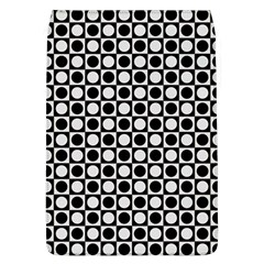 Modern Dots In Squares Mosaic Black White Flap Covers (l)  by EDDArt