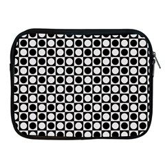 Modern Dots In Squares Mosaic Black White Apple Ipad 2/3/4 Zipper Cases by EDDArt