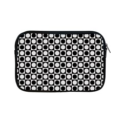 Modern Dots In Squares Mosaic Black White Apple Ipad Mini Zipper Cases by EDDArt