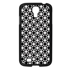 Modern Dots In Squares Mosaic Black White Samsung Galaxy S4 I9500/ I9505 Case (black) by EDDArt