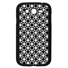 Modern Dots In Squares Mosaic Black White Samsung Galaxy Grand Duos I9082 Case (black) by EDDArt