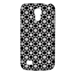 Modern Dots In Squares Mosaic Black White Galaxy S4 Mini by EDDArt