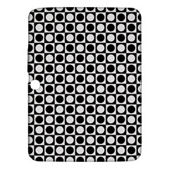 Modern Dots In Squares Mosaic Black White Samsung Galaxy Tab 3 (10 1 ) P5200 Hardshell Case  by EDDArt