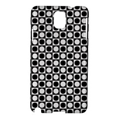 Modern Dots In Squares Mosaic Black White Samsung Galaxy Note 3 N9005 Hardshell Case by EDDArt