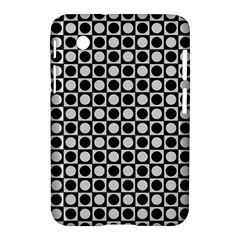 Modern Dots In Squares Mosaic Black White Samsung Galaxy Tab 2 (7 ) P3100 Hardshell Case  by EDDArt