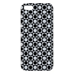 Modern Dots In Squares Mosaic Black White Iphone 5s/ Se Premium Hardshell Case by EDDArt