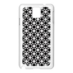 Modern Dots In Squares Mosaic Black White Samsung Galaxy Note 3 N9005 Case (white) by EDDArt