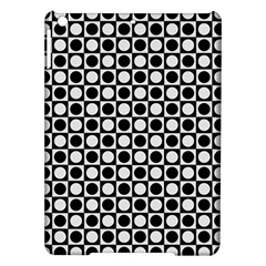 Modern Dots In Squares Mosaic Black White Ipad Air Hardshell Cases by EDDArt