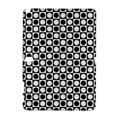 Modern Dots In Squares Mosaic Black White Samsung Galaxy Note 10 1 (p600) Hardshell Case by EDDArt