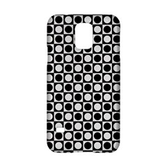 Modern Dots In Squares Mosaic Black White Samsung Galaxy S5 Hardshell Case  by EDDArt