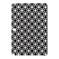 Modern Dots In Squares Mosaic Black White Samsung Galaxy Tab Pro 12 2 Hardshell Case by EDDArt
