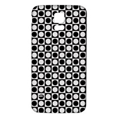 Modern Dots In Squares Mosaic Black White Samsung Galaxy S5 Back Case (white) by EDDArt