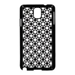 Modern Dots In Squares Mosaic Black White Samsung Galaxy Note 3 Neo Hardshell Case (black) by EDDArt