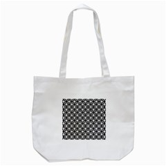 Modern Dots In Squares Mosaic Black White Tote Bag (white) by EDDArt