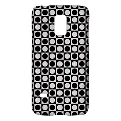 Modern Dots In Squares Mosaic Black White Galaxy S5 Mini by EDDArt