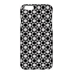 Modern Dots In Squares Mosaic Black White Apple Iphone 6 Plus/6s Plus Hardshell Case by EDDArt