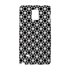 Modern Dots In Squares Mosaic Black White Samsung Galaxy Note 4 Hardshell Case by EDDArt