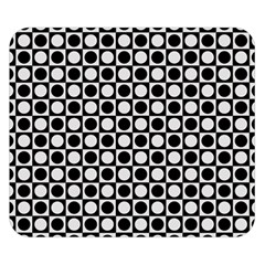 Modern Dots In Squares Mosaic Black White Double Sided Flano Blanket (small)  by EDDArt