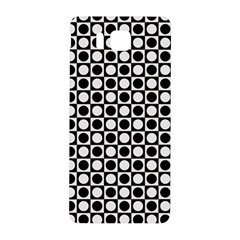 Modern Dots In Squares Mosaic Black White Samsung Galaxy Alpha Hardshell Back Case by EDDArt