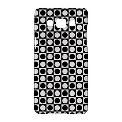 Modern Dots In Squares Mosaic Black White Samsung Galaxy A5 Hardshell Case  by EDDArt
