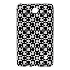 Modern Dots In Squares Mosaic Black White Samsung Galaxy Tab 4 (7 ) Hardshell Case  by EDDArt