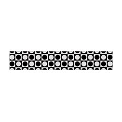 Modern Dots In Squares Mosaic Black White Flano Scarf (mini) by EDDArt