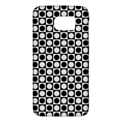 Modern Dots In Squares Mosaic Black White Galaxy S6 by EDDArt