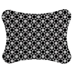 Modern Dots In Squares Mosaic Black White Jigsaw Puzzle Photo Stand (bow) by EDDArt