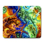 Abstract Fractal Batik Art Green Blue Brown Large Mousepads Front