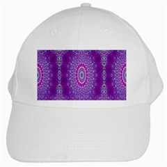 India Ornaments Mandala Pillar Blue Violet White Cap