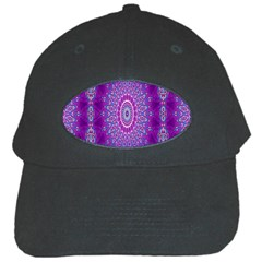 India Ornaments Mandala Pillar Blue Violet Black Cap