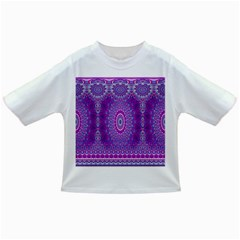 India Ornaments Mandala Pillar Blue Violet Infant/Toddler T-Shirts
