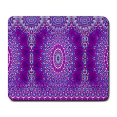 India Ornaments Mandala Pillar Blue Violet Large Mousepads