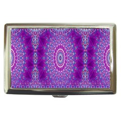 India Ornaments Mandala Pillar Blue Violet Cigarette Money Cases