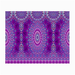 India Ornaments Mandala Pillar Blue Violet Small Glasses Cloth