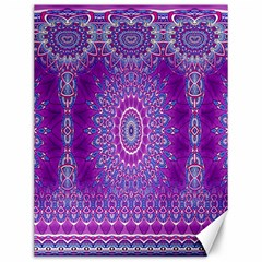 India Ornaments Mandala Pillar Blue Violet Canvas 12  x 16