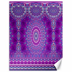India Ornaments Mandala Pillar Blue Violet Canvas 18  x 24