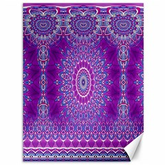 India Ornaments Mandala Pillar Blue Violet Canvas 36  x 48
