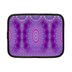 India Ornaments Mandala Pillar Blue Violet Netbook Case (Small)
