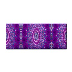 India Ornaments Mandala Pillar Blue Violet Hand Towel