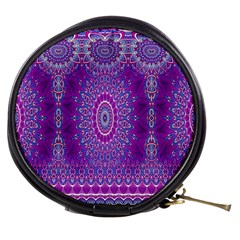 India Ornaments Mandala Pillar Blue Violet Mini Makeup Bags