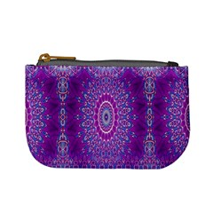 India Ornaments Mandala Pillar Blue Violet Mini Coin Purses