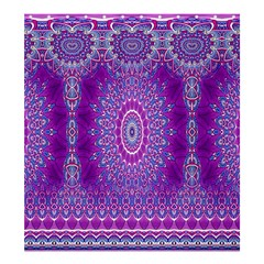 India Ornaments Mandala Pillar Blue Violet Shower Curtain 66  x 72  (Large)