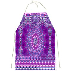India Ornaments Mandala Pillar Blue Violet Full Print Aprons