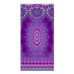 India Ornaments Mandala Pillar Blue Violet Shower Curtain 36  x 72  (Stall)