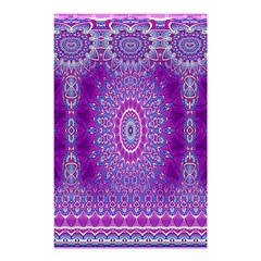 India Ornaments Mandala Pillar Blue Violet Shower Curtain 48  x 72  (Small)