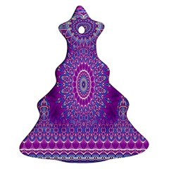 India Ornaments Mandala Pillar Blue Violet Christmas Tree Ornament (2 Sides)